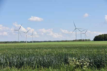 Parc éolien de Quesnoy-sur-Airaine dans la Somme. © Dreal Hauts-de-France
