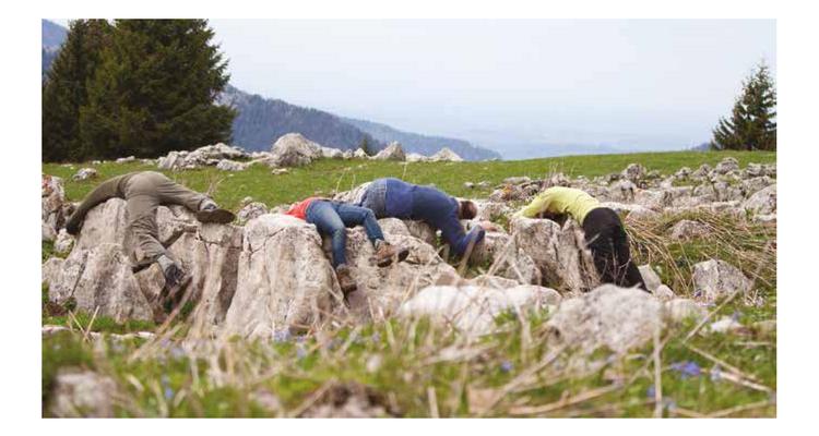 Parcours chorégraphique dans un espace naturel sensible en Isère.