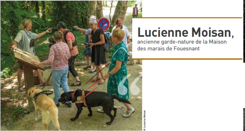 Lucienne Moisan, ancienne garde-nature de la Maison des marais de Fouesnant. © Lucienne Moisan
