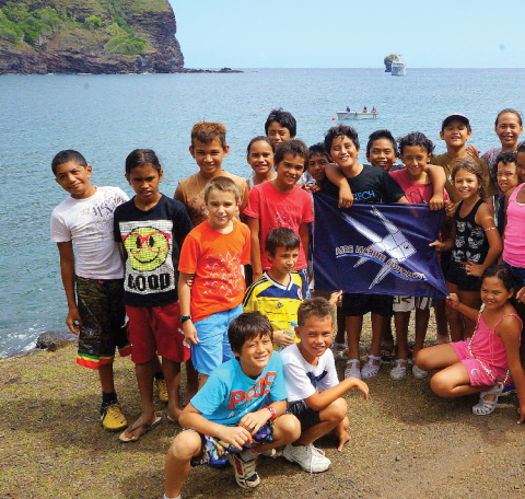 Un label a été mis au point, récompensant les écoles marquisiennes développant un projet d'aire marine éducative.