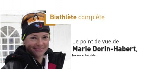 Marie Dorin-Habert, (ancienne) biathlète.